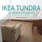 IKEA flooring review one year later {tundra laminate}