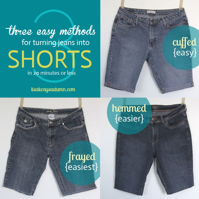 three methods for turning jeans into shorts in 20 minutes or less ...