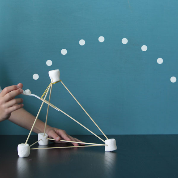 easy marshmallow catapults {summer fun forkids}