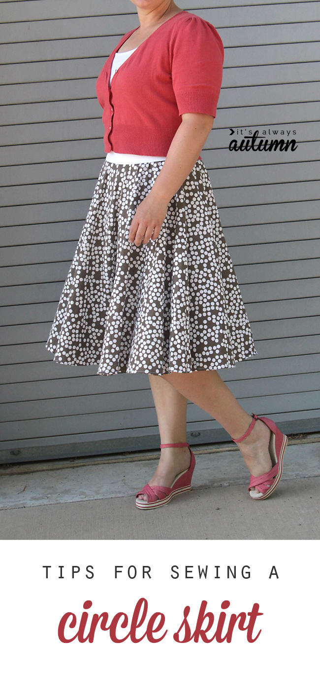 this circle skirt was made from a thrifted sheet! learn how easy it is to sew your own DIY circle skirt.