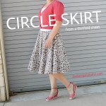 DIY circle skirt from a thrifted sheet