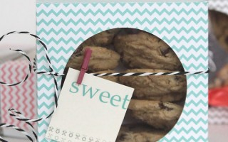 easy DIY folded paper cookie & treat gift boxtutorial