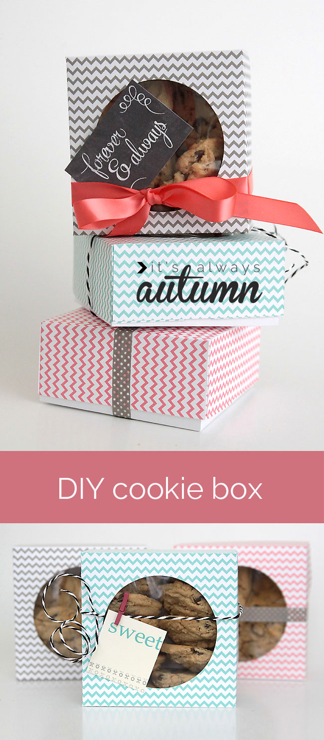 easy DIY folded paper cookie & treat gift box tutorial ...