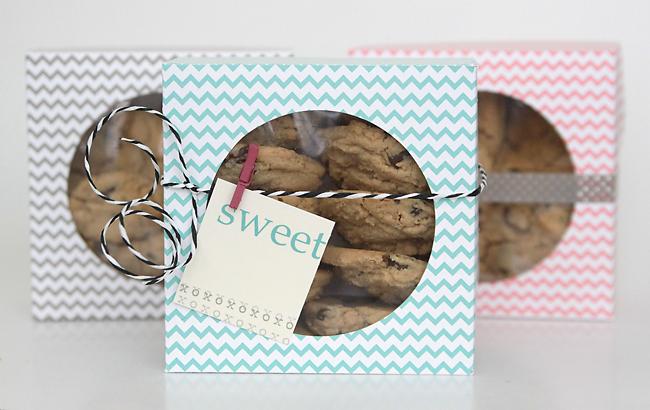 easy DIY folded paper cookie u0026 treat gift box tutorial & easy DIY folded paper cookie u0026 treat gift box tutorial - Itu0027s ... Aboutintivar.Com
