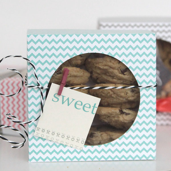 Easy DIY Folded Paper Cookie Treat Gift Box Tutorial