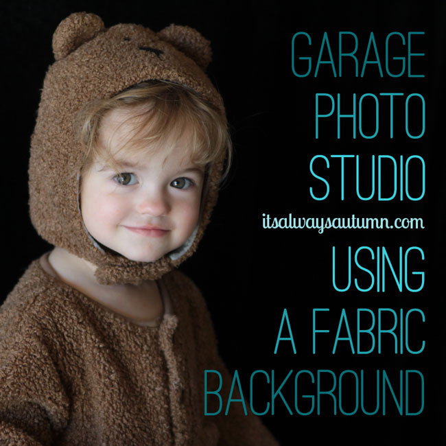 make your own fabric photography backdrop in your garage