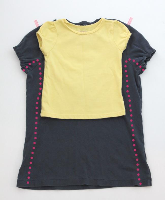 Refashion too small dress