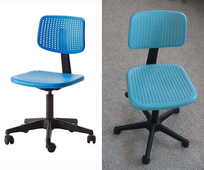 Spray paint desk chairs to match your decor it 39 s always for Paint office chair