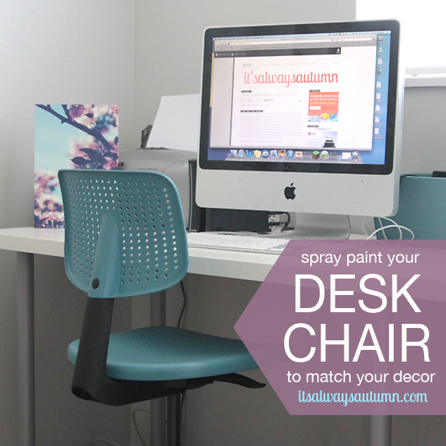 spray paint desk chairs to match yourdecor