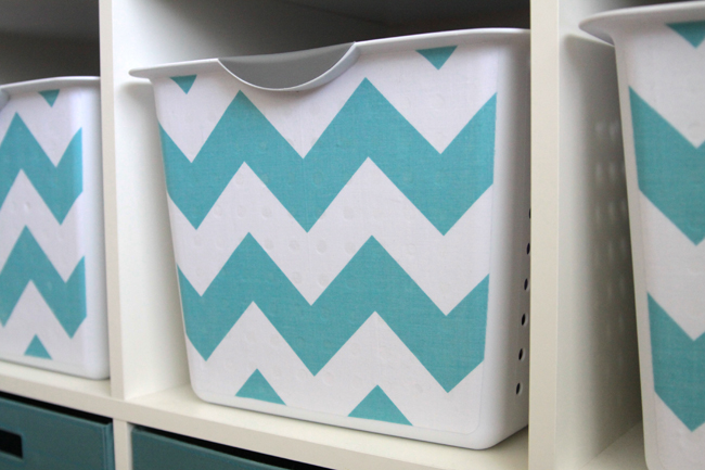 Wipe Out Any Mod Podge That Has Dripped On The Inside Of The Bin. Let It  Dry Completely, Then Cover The Fabric Fronts With A Thin Layer Mod Podge.