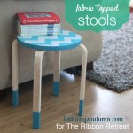 fabric topped kitchen stools
