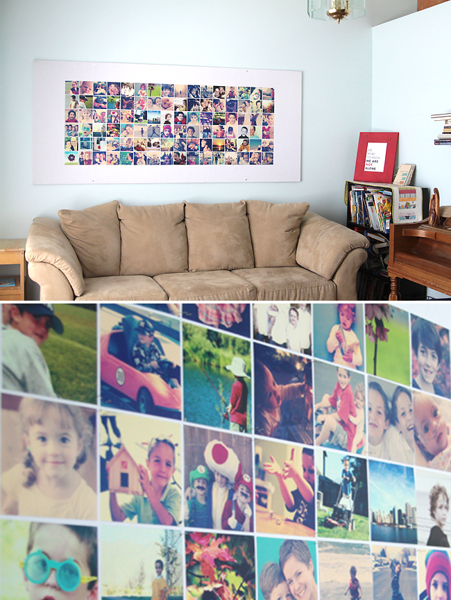 Diy photo instagram wall for Diy photographic mural