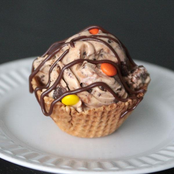 peanut butter fudge cookie ice cream{semi-homemade}