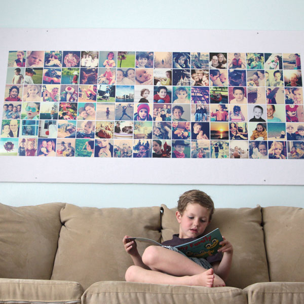 huge DIY photo wall bulletin board {instagram wall}