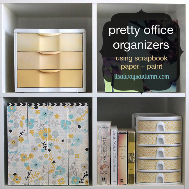 Pretty Office Craft Supplies Organization