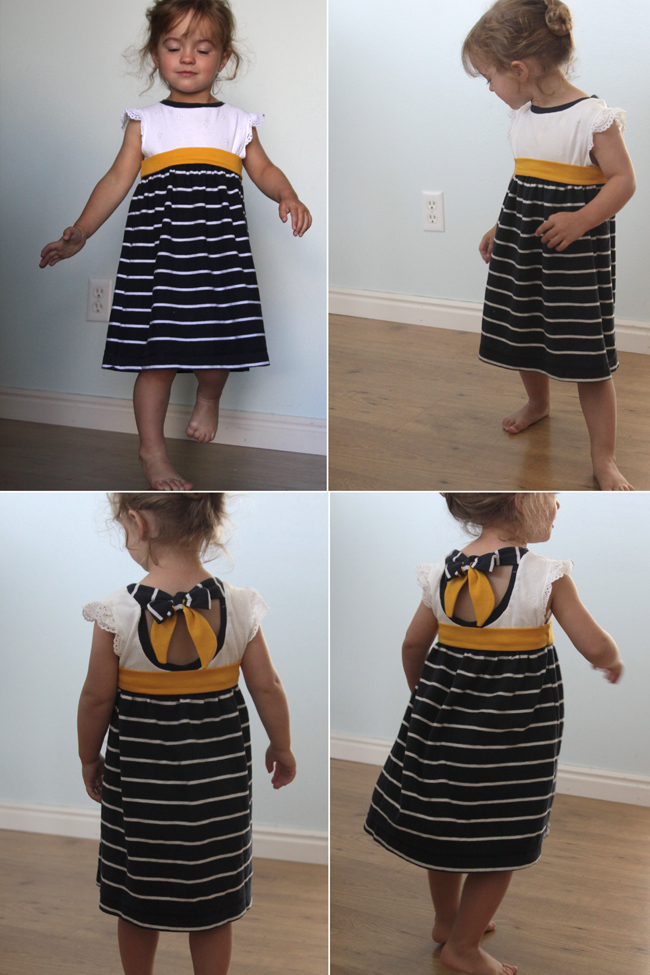 Tie back tee shirt dress an easy upcycle it 39 s always for Make a dress shirt