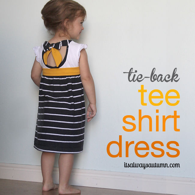 tie-back tee shirt dress {an easy upcycle} - It&39s Always Autumn