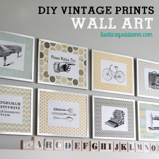 DIY vintage prints wall art & Fancy Pants giveaway