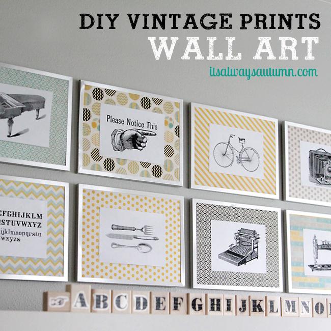 DIY vintage prints wall art & Fancy Pantsgiveaway