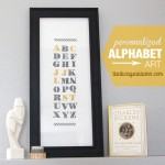 family initials alphabet art + a Stampin' Up!giveaway