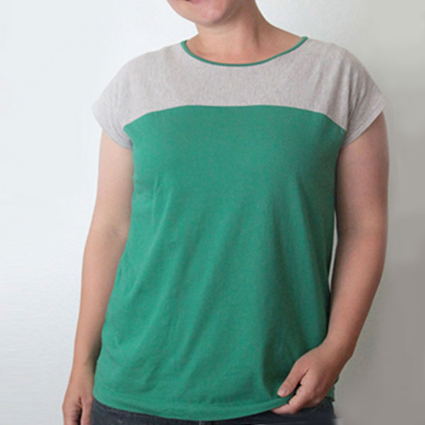 the easy tee {the colorblocked version}