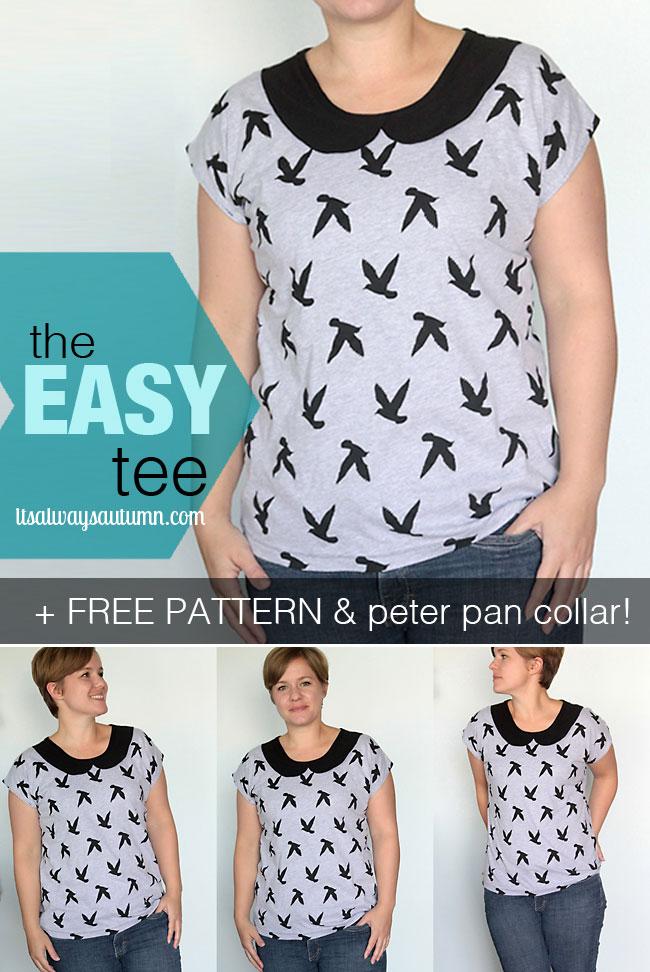 Peter Pan Collar Blouse Free Pattern 105