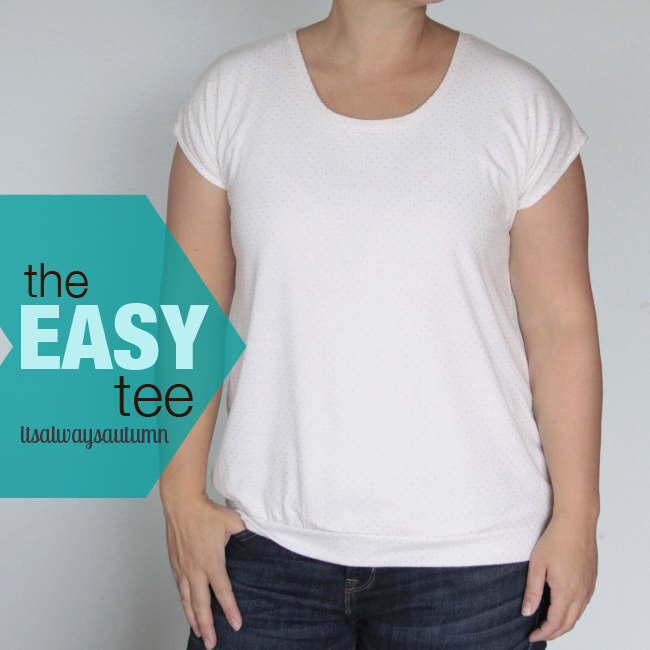 Free Pattern For Easy Women 39 S T Shirt Tee Sewing Tutorial