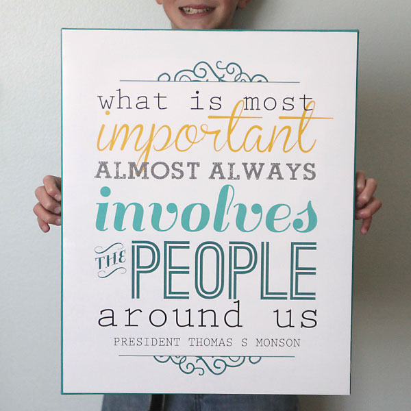 """what is most important"" free printable + chalkboard version"