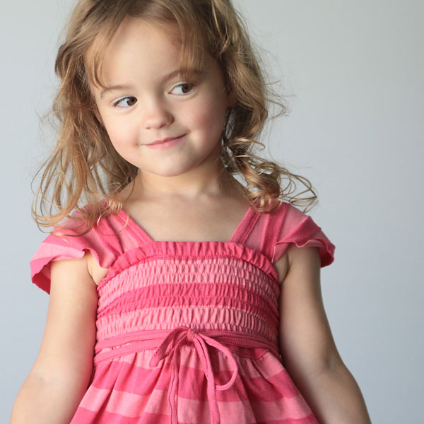 the pink dress my daughter doesn't need…and a shirring tutorial