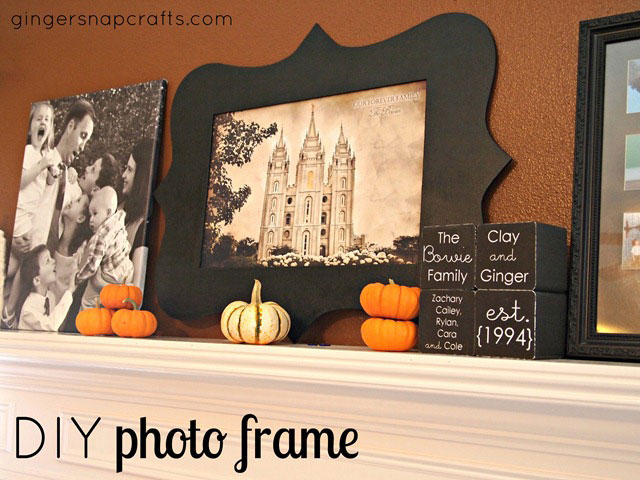20 best diy picture frame tutorials its always autumn diy photo frame with your silhouette2 small solutioingenieria Images