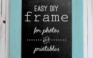 how to build a DIY wood frame for photos andprintables