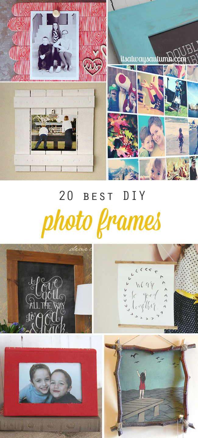 20 best diy photo frame tutorials on the web these are cool