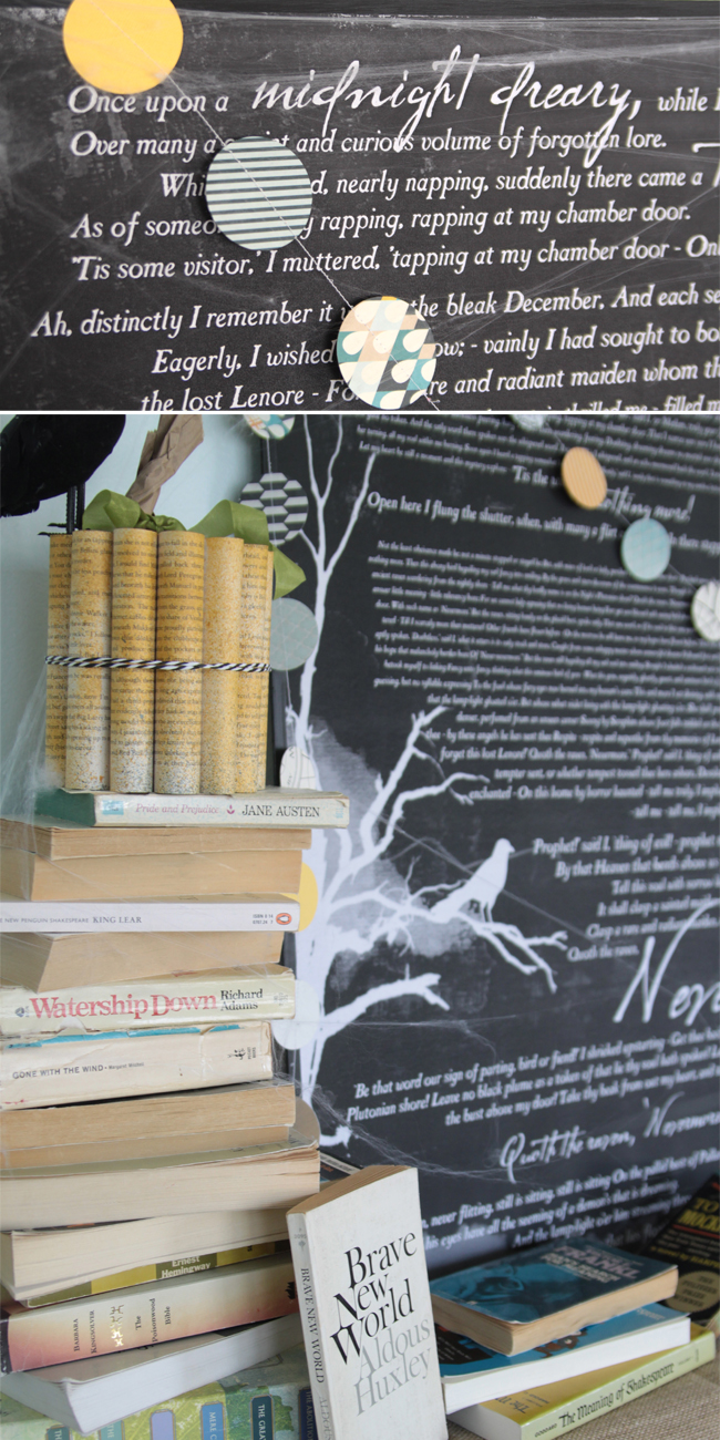 book inspired halloween mantle decor u0026