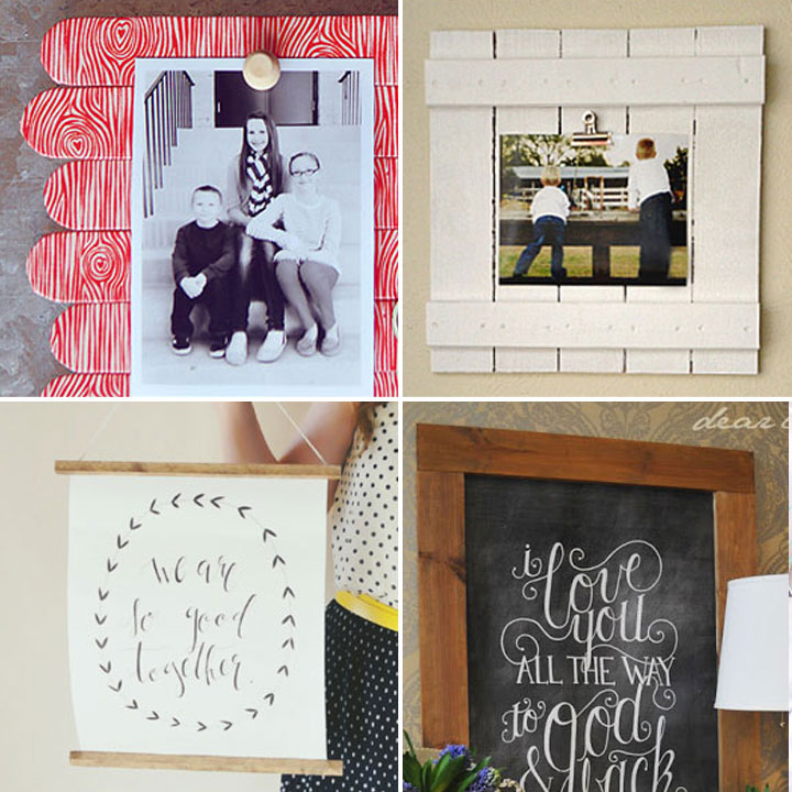 20 best DIY picture frame tutorials - It's Always Autumn