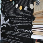 "book inspired Halloween mantle decor & ""The Raven"" free printable"