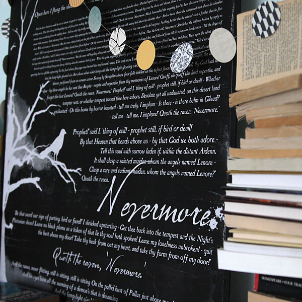 Large printable of The Raven poem