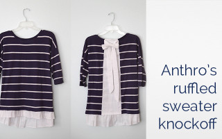 anthropologie ruffled hem pullover DIY knockoff
