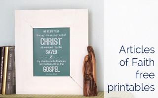 mormon articles of faith printable photos