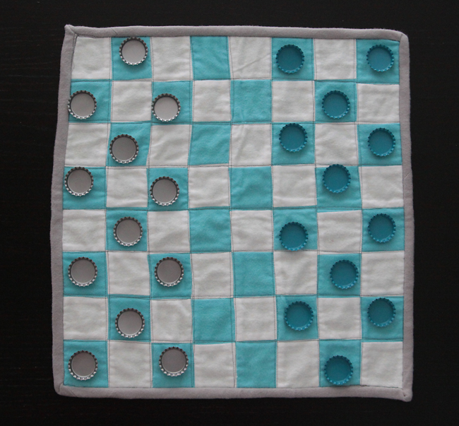 handmade fabric chess set