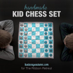 handmade kid chess set {perfect christmas gift!}