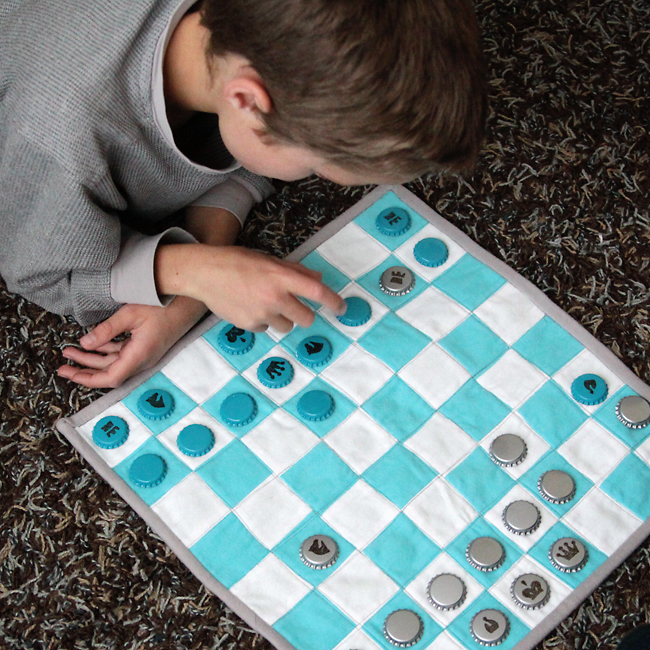 kids fabric chess set