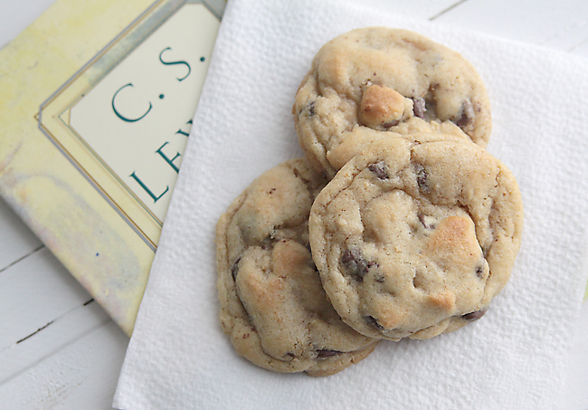 chewy cakey chocolate chip cookies