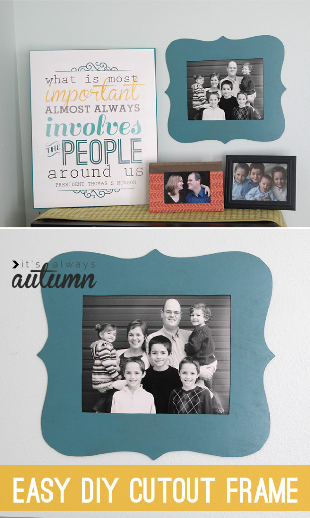 shaped cut out photo frame