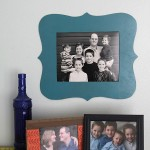 easy DIY cutout photo frame tutorial & template