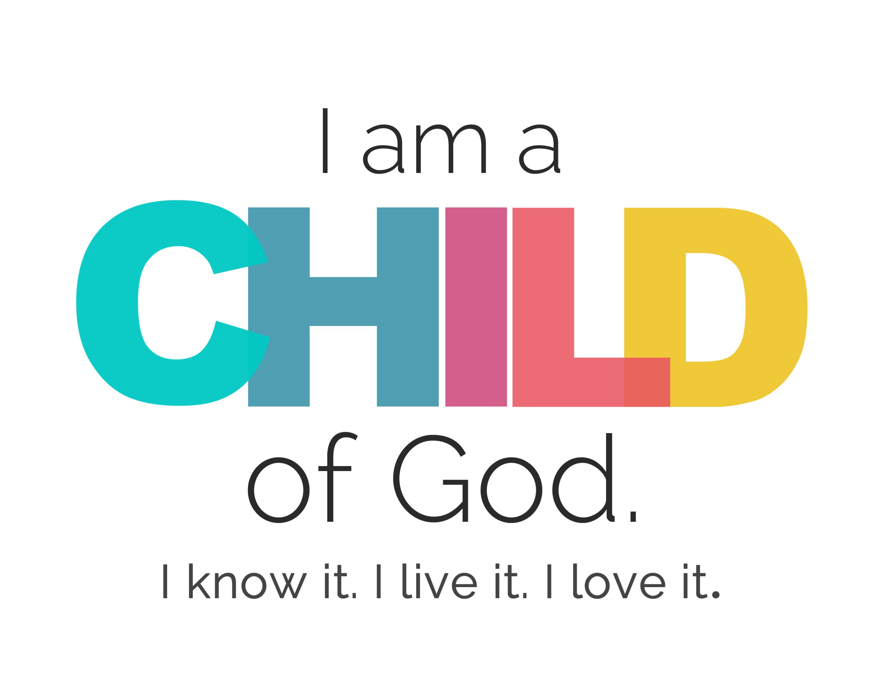 picture about I Am a Child of God Printable called I am a Baby of God\