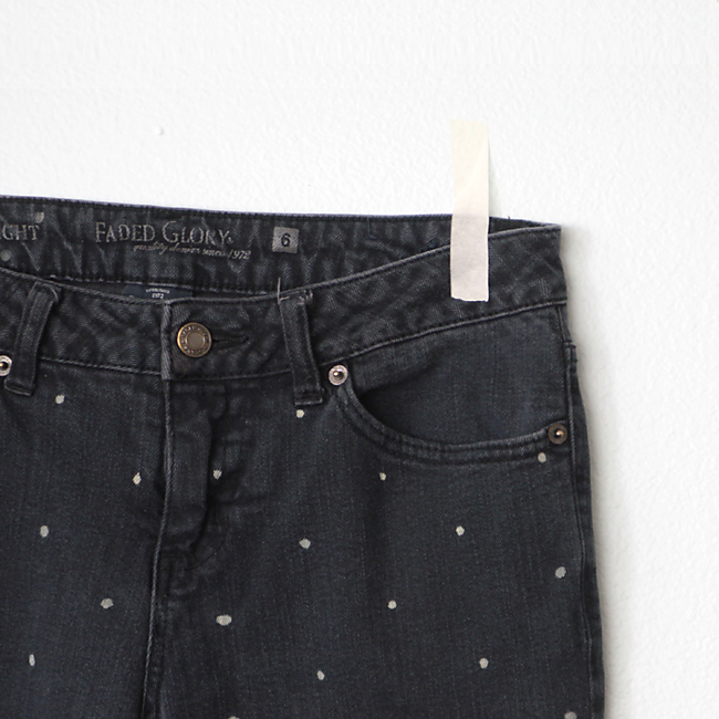 polka dot jeans for women