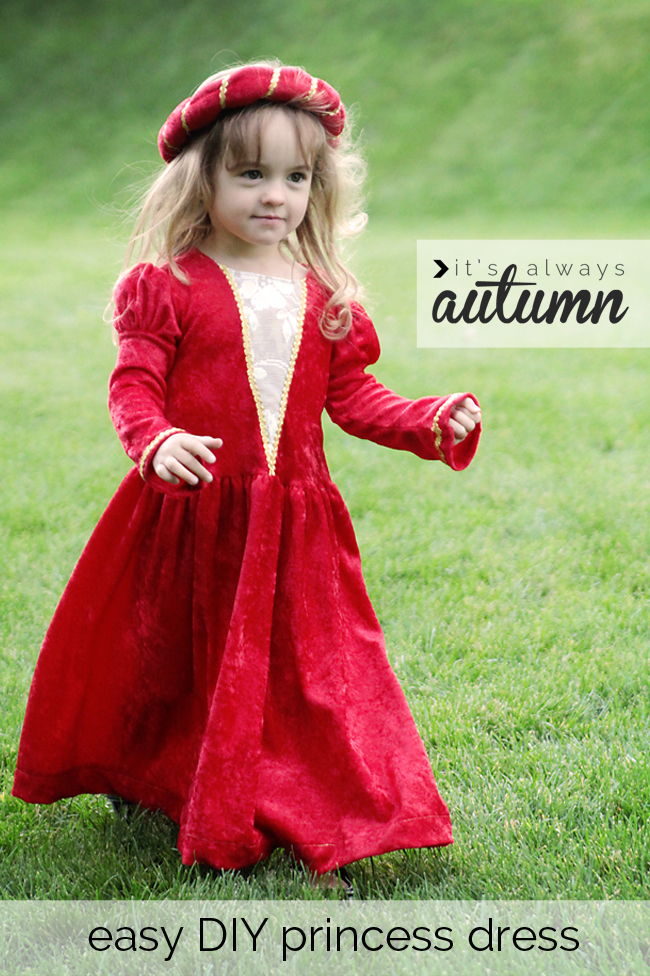 easy DIY princess Halloween costume - It's Always Autumn