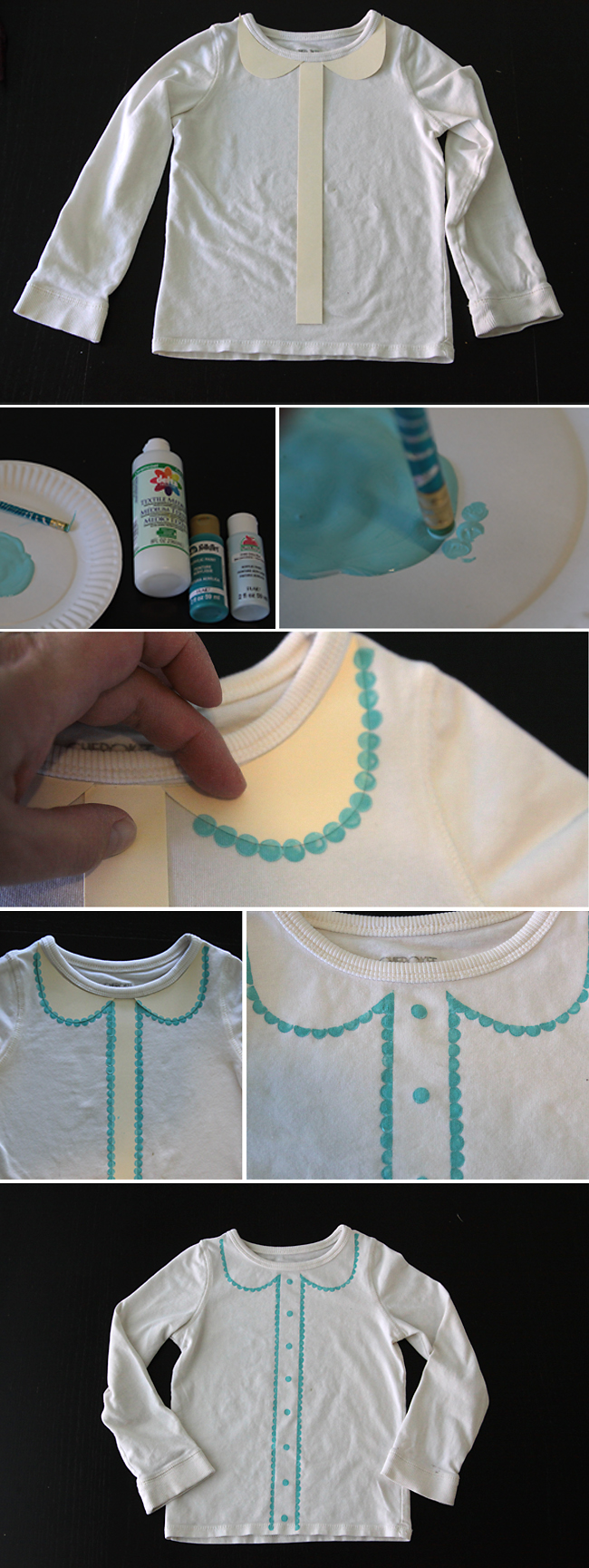 Easy diy scallop collar tee it 39 s always autumn for How to put a picture on a shirt diy