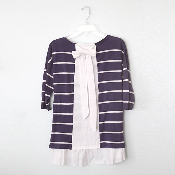 anthropologie ruffled hem pullover knockoff