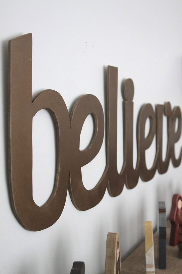 Wall size cutout word art for christmas believe it 39 s for Decoration word